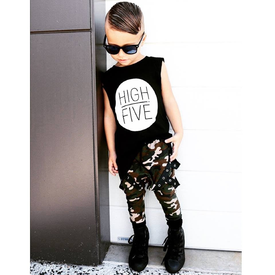KT02- HIGH 5-KIDS TSHIRT / TANK - Shawshank Clothing