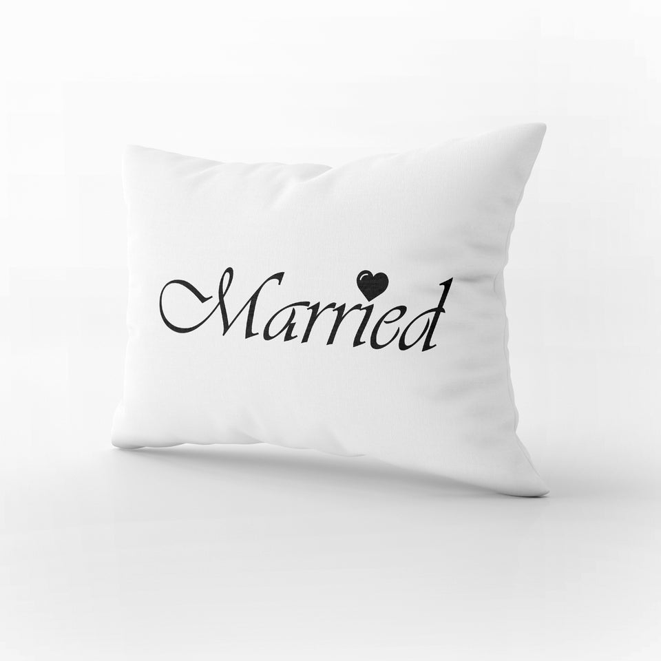PS02- JUST MARRIED PILLOW CASES - Shawshank Clothing