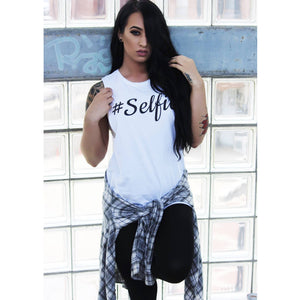 WOMENS #SELFIE TANK - Shawshank clothing