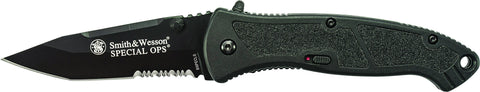 Smith & Wesson Large Special Ops Liner Lock M.A.G.I.C. Assisted Opening Knife Partially Serrated Ta