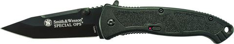 Smith & Wesson Large Special Ops Liner Lock M.A.G.I.C. Assisted Opening Knife Tanto Blade Aluminum