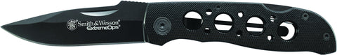 Smith & Wesson Extreme Ops Lockback Folding Knife Drop Point Blade Aluminum Handle
