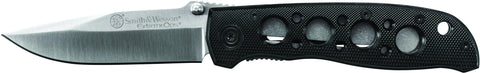Smith & Wesson Extreme Ops Liner Lock Folding Knife Drop Point Blade Aluminum Handle
