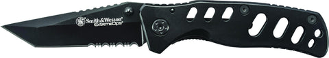 Smith & Wesson Extreme Ops Frame Lock Folding Knife Partially Serrated Clip Point Tanto Blade Steel