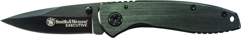 Smith & Wesson Executive Frame Lock Folding Knife Drop Point Blade Steel Handle