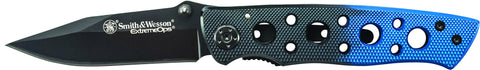 Smith & Wesson Extreme Ops Liner Lock Folding Knife Clip Point Blade Aluminum Handle