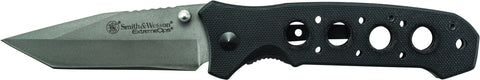 Smith & Wesson Liner Lock Folding Knife Tanto Blade G-10 Handle