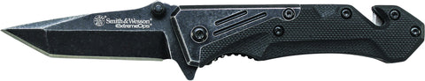 Smith & Wesson Extreme Ops Liner Lock Tanto Folding Knife