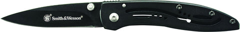 Smith & Wesson Frame Lock Folding Pocket Knife Drop Point Blade Steel Handle