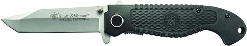 Smith & Wesson Special Tactical Liner Lock Folding Knife Tanto Blade Composite Handle