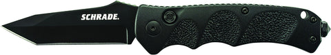 Schrade Push Button Lock Folding Knife Tanto Blade