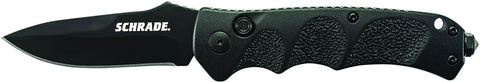 Schrade Push Button Lock Folding Knife Drop Point Blade