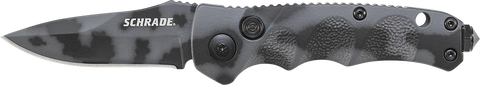 Schrade Mini Push Button Lock Folding Knife Drop Point Blade