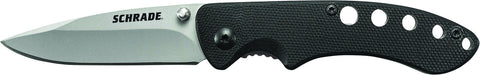 Schrade Liner Lock Folding Knife Drop Point Blade G-10 Handle