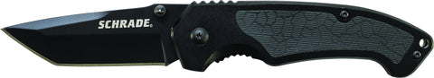 Schrade Liner Lock Folding Knife Tanto Blade Aluminum Handle