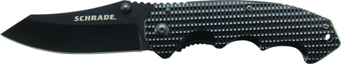 Schrade Liner Lock Folding Knife Clip Point Blade Aluminum Handle