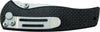 Schrade Liner Lock Folding Knife Partially Serrated Drop Point Blade Carbon Fiber Handle