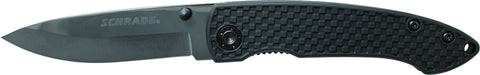 Schrade Liner Lock Folding Knife Drop Point Ceramic Blade ABS & TPR Handle
