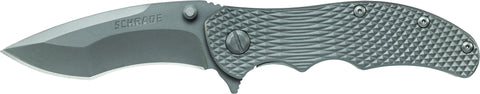 Schrade Frame Lock Folding Knife Drop Point Re-Curve Blade Titanium Handle