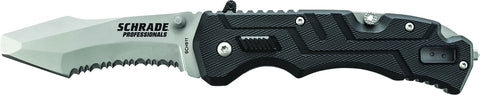 Schrade Professionals M.A.G.I.C. Assisted Opening Folding Knife Serrated Clip Point Re-Curve Blunt-