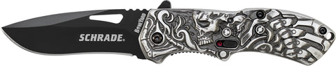 Schrade Boneyard Series Lazy Bones M.A.G.I.C. Assisted Opening Liner Lock Folding Knife