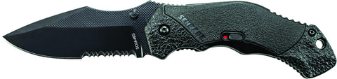 Schrade M.A.G.I.C. Assisted Opening Liner Lock Folding Knife Partially Serrated Clip Point Blade Alu