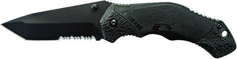 Schrade M.A.G.I.C. Assisted Opening Liner Lock Folding Knife Partially Serrated Tanto Blade Aluminum