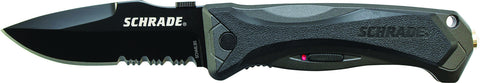 Schrade Large  M.A.G.I.C. Assisted Opening Liner Lock Folding Knife Partially Serrated Drop Point Bl
