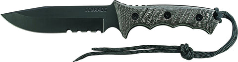 Schrade Extreme Survival Full Tang Partially Serrated Clip Point Fixed Blade Micarta Handle