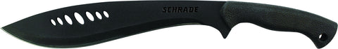 Schrade Small Full Tang Kukri Machete Fixed Blade Safe-T-Grip Handle