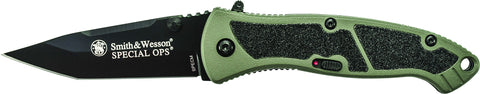 Smith & Wesson Medium Special Ops M.A.G.I.C. Assisted Opening Liner Lock Folding Knife Tanto Blade