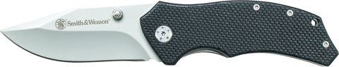 Smith & Wesson Liner Lock Drop Point G-10 Folding Knife