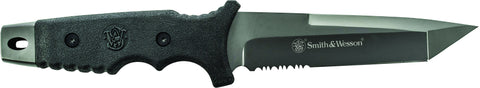 Smith & Wesson Full Tang Partially Serrated Tanto Fixed Blade PPE Handle