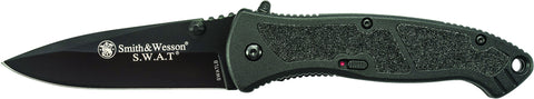 Smith & Wesson Large S.W.A.T. M.A.G.I.C. Assisted Opening Liner Lock Folding Knife Drop Point Blade