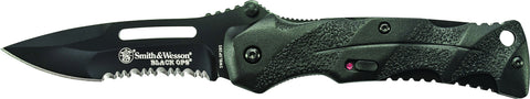 Smith & Wesson Black Ops M.A.G.I.C. Assisted Opening Liner Lock Folding Knife Partially Serrated Dr