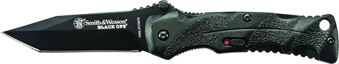 Smith & Wesson Black Ops Mini M.A.G.I.C. Assisted Opening Liner Lock Folding Knife Tanto Blade Alum