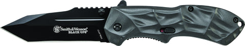 Smith & Wesson Black Ops M.A.G.I.C. Assisted Opening Liner Lock Folding Knife Tanto Blade Aluminum