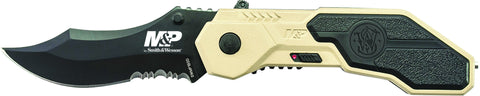 Smith & Wesson Military & Police M.A.G.I.C. Assisted Opening Liner Lock Folding Knife Partially Serr