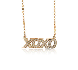 Diamond 'XOXO' Necklace