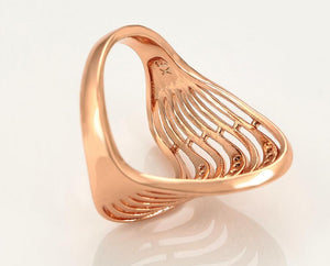 Crystal Wave Ring
