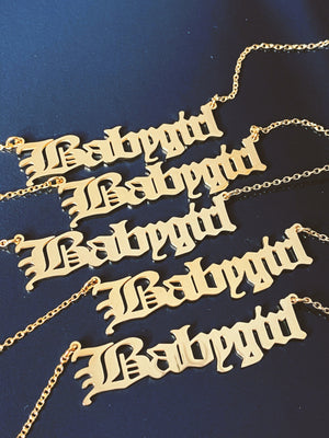 Old English Babygirl Necklace