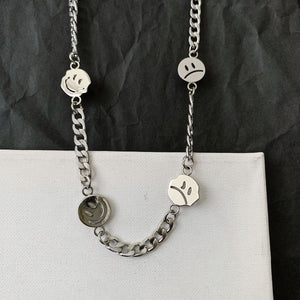 Silver Smiley Face Necklace