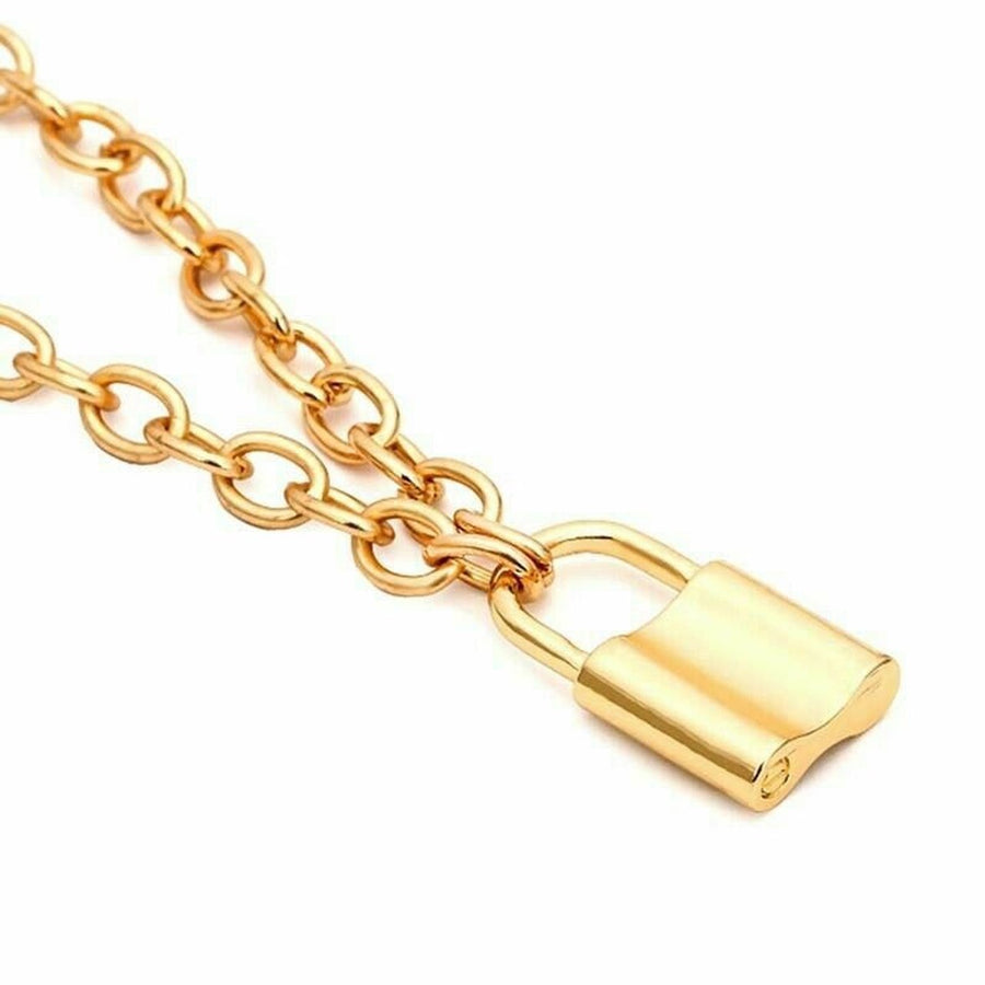 Lock and Chain - Gold/Silver