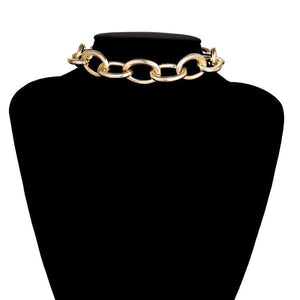 Gold Chunky Choker Necklace