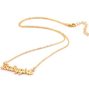Cute Gold Babygirl Necklace
