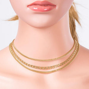 3 Chain Layered Necklace