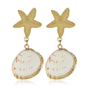 Tiger Lucine and Starfish Drop Earrings