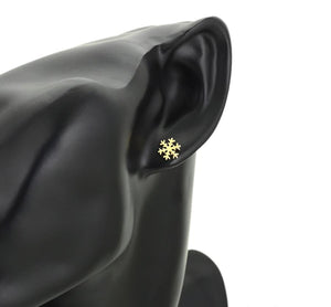 Gold Snowflake Ear Studs