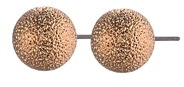 Textured Bronze Ball Earring