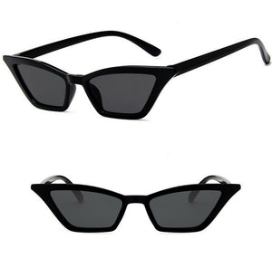 Classic Black Print Cat Eye Sunglasses